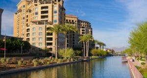 Scottsdale towers and canal © iStock
