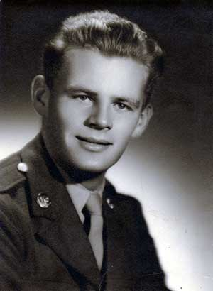 Lawrence Pulliam, around age 18, when he was a private in the Air Corps branch of the Reserves.