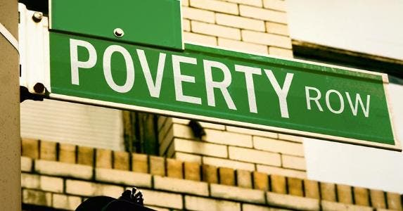 'Poverty Row' street sign © iStock