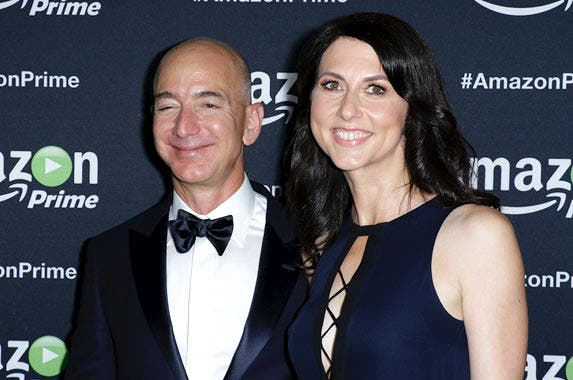 Jeff and Mackenzie Bezos © Paul Mounce/Corbis