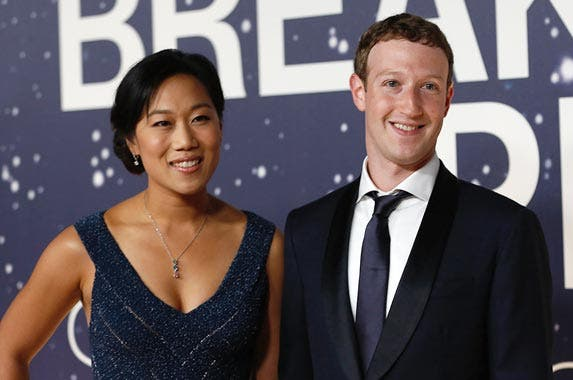 Mark Zuckerberg and Priscilla Chan © STEPHEN LAM/Reuters/Corbis