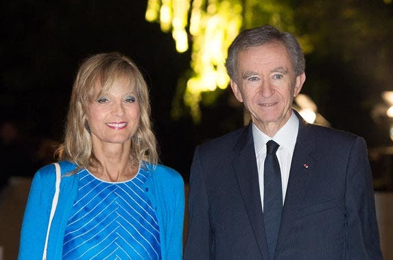 Bernard Arnault and Helene Mercier © Stephane Cardinale/People Avenue/Corbis