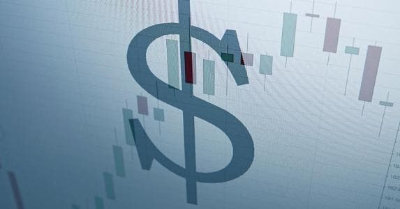 Dollar sign overlayed on stock graph © iStock