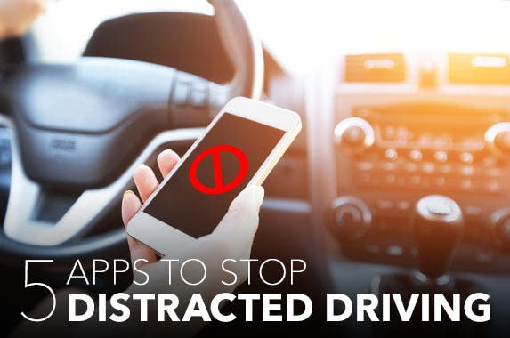 5 car apps to stop cellphone distraction © iStock