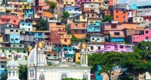 Colorful houses in Ecuador   Jess Kraft/Shutterstock.com