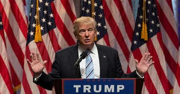 President-elect Donald Trump giving speech | scarletsails/Getty Images