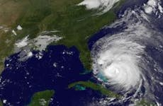Satellite view of hurricane over Florida | NASA/Getty Images