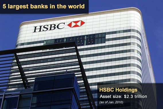 5 largest banks in the world