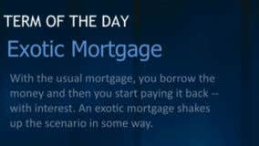 What is an exotic mortgage?