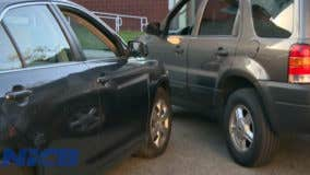 Staged car accidents: Curb drive down