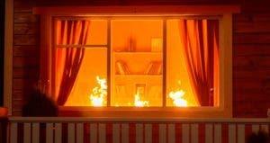 Fire inside living room | Gorb Andrii/Shutterstock.com