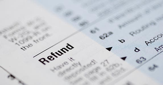 April: Don't spend your refund | iStock.com/emmgunn
