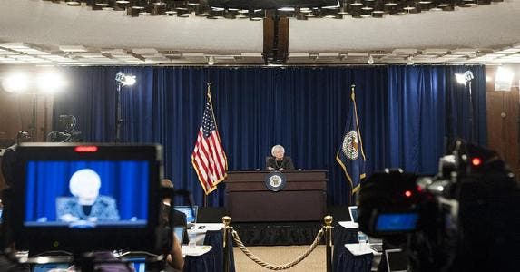 Janet Yellen speaking to the press | Saul Loeb/AFP/Getty