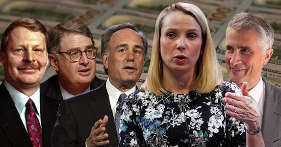 6 CEOs with shocking exit packages | Bankrate/Getty Images