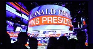 'Donald Trump wins presidency' ticker   Mark Wilson/Getty Images