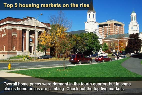 Top 5 housing markets on the rise