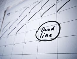 Mistake No. 7: Blowing the deadline