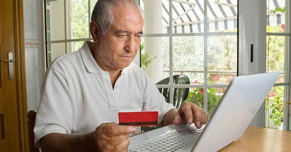 Seniors are at risk using debit cards © cunaplus/Shutterstock.com