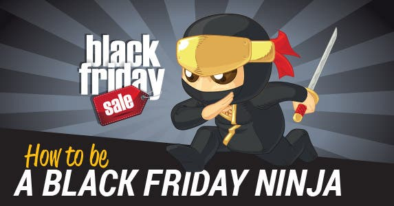 How to be a Black Friday ninja | Title black Friday © Michele Paccione/Shutterstock.com; Ninja: BluezAce/Shutterstock.com
