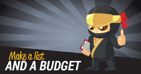 1. Make a list -- and a budget | BluezAce/Shutterstock.com