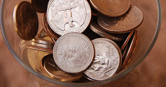 Stash your spare 'change' © iStock