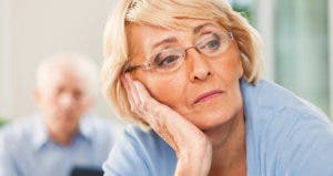 Senior woman lost in thought © iStock