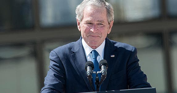 George W. Bush | BRENDAN SMIALOWSKI/AFP/Getty Images