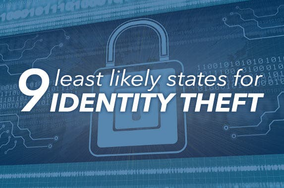 The 9 least likely states for identity theft © iStock