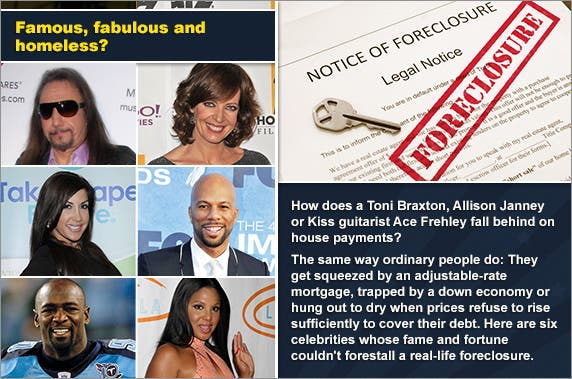 They're rich and famous and in foreclosure | Foreclosure document: © zimmytws/Shutterstock.com