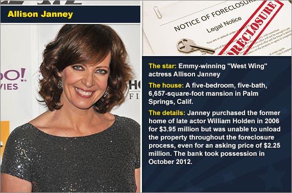 Allison Janney © Featureflash/Shutterstock.com, foreclosure document: © zimmytws/Shutterstock.com