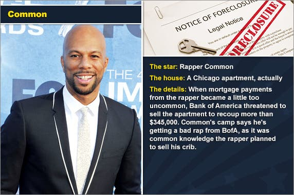 Rapper Common © PR Photos, foreclosure document: © zimmytws/Shutterstock.com