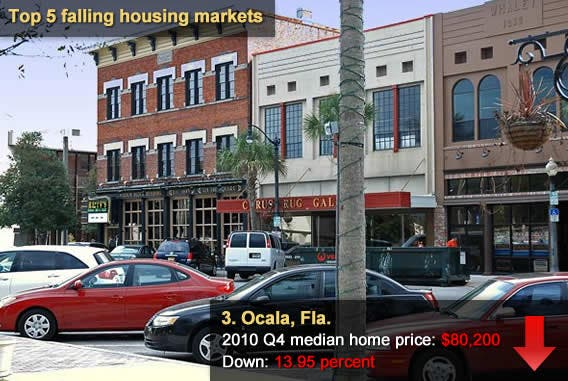 Top 5 falling housing markets