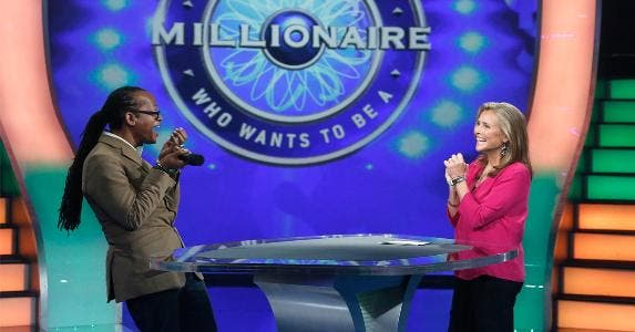 Media still from the TV show 'Who wants to be a Millionaire' | Heidi Gutman/Getty Images