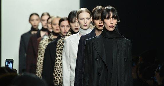 Bottega Veneta cashmere trench coat   TIZIANA FABI/AFP/Getty Images