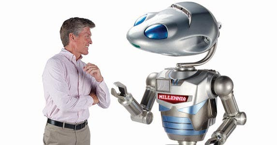Celebrity robotic avatar | Photo courtesy of Hammacher Schlemmer