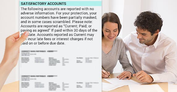 Check your credit balances and limits | Hand: © Artem Furman/Shutterstock.com, Couple filling out form: © Ldprod/Shutterstock.com