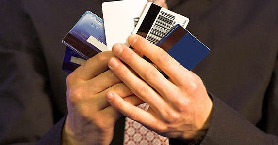 Multiple credit card hocus-pocus © iStock