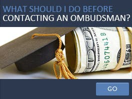 What should I do before contacting an ombudsman?