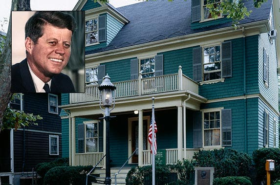 John F. Kennedy | U.S. National Archives and Records Administration; House: Buyenlarge/Archive Photos/Getty Images