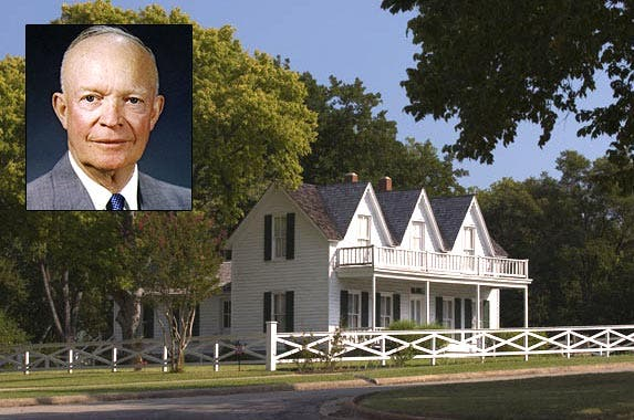 Dwight D. Eisenhower | The White House; House: Photo courtesy of Texas Historical Commission
