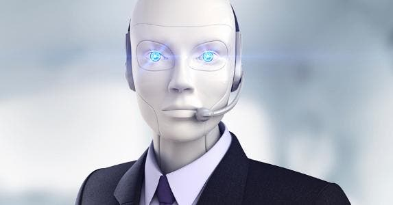 Robot wearing suit and headset © iStock