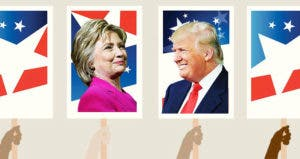 Hilary Clinton and Donald Trump | Photos by Getty/Illustration by Bankrate
