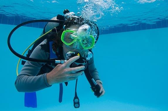 Pool scuba diver   Elli Thor Magnusson/Getty Images