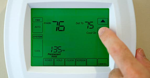 Buy a programmable thermostat © iStock