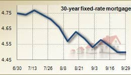 Mortgage rates for Sept. 29, 2010