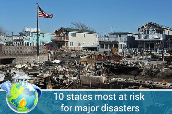 10 riskiest states for disasters | © Anton Oparin-Shutterstock.com