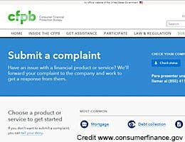 Consumer Financial Protection Bureau © Credit www.consumerfinance.gov