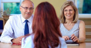 Woman sitting opposite management during an interview © Michal Kowalski/Shutterstock.com