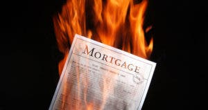 Mortgage document burning © B Brown/Shutterstock.com