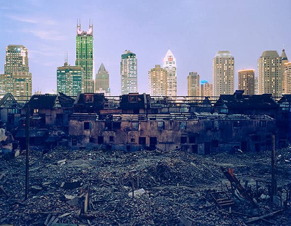 A demolition site in Shanghai | Photo credit: Greg Girard